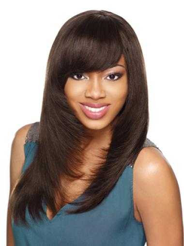 Yaki With Bangs Lace Front Synthetic Wigs