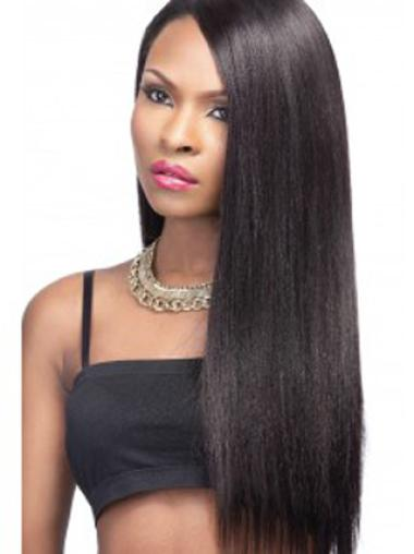 Yaki Without Bangs Lace Front Synthetic Wigs