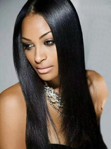 Yaki Without Bangs Synthetic Lace Front Wigs