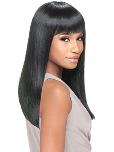 Yaki With Bangs Synthetic Classic Lace Front Wigs,African ...