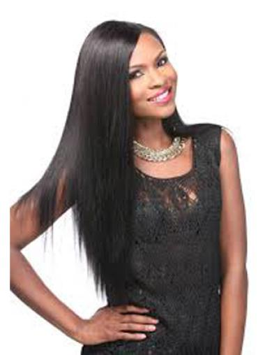 Yaki Black Lace Front Synthetic Wigs