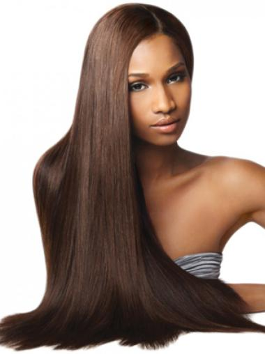 Yaki Long Straight Brown Modern Synthetic Wigs