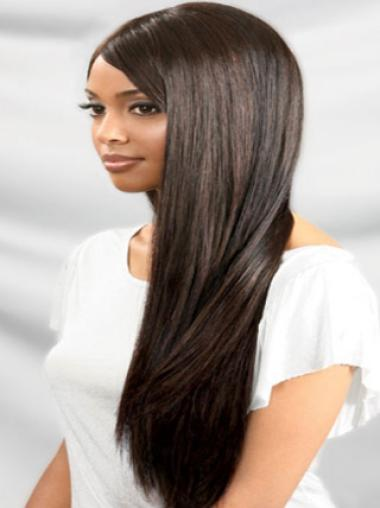 Yaki With Bangs Long Straight Remy Human Hair Wigs