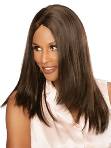 Beverly Johnson Sleek Clear Long Straight Lace Front Human Hair Wig