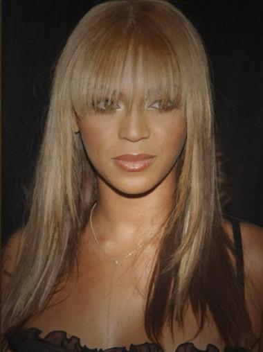 16 Inches Silky Beyonce New Style Remy Hair With Bang Lace Wig