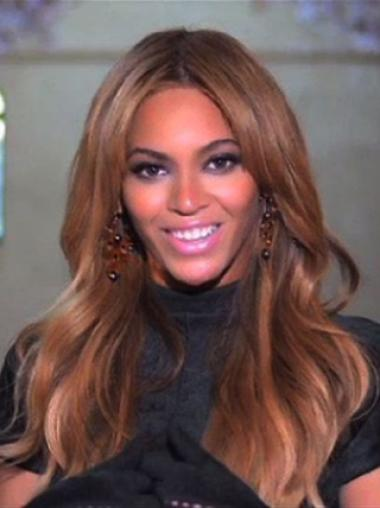 Classic Beyonce 18 Inches Remy Hair Loose Wavy Lace Wig