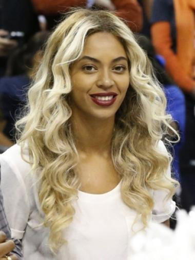 Chic Style Beyonce 22 Inches Remy Hair Long Wavy Lace Wig