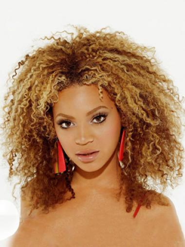 Beyonce 12 Inches Remy Hair African American Kinky Lace Wig