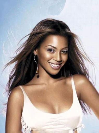 Beyonce Knowles Long Silky Straight Lace Front Human Hair Wig
