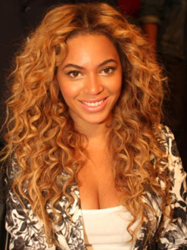Beyonce Knowles Passionate and Vivacious 100% Human Hair Long Wavy Lace Front Wig about 22 Inches