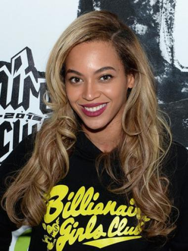 Beyonce Stylish 20 Inches Wavy Remy Hair Lace Wig
