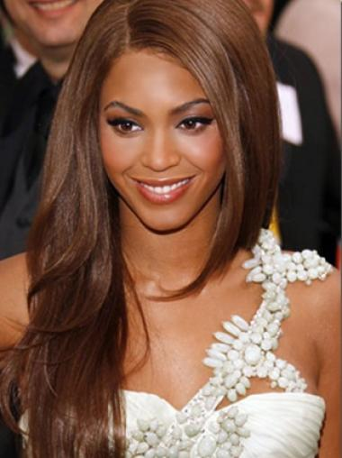 Natural Straight Beyonce 22 Inches Silky Remy Hair Lace Wig