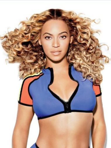 New Arrival Beyonce 18 Inches Thicken Human Hair Lace Wig Free Shipping