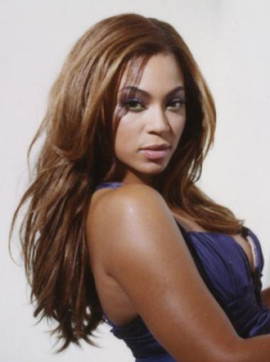 Charming Beyonce 18Inches Natural Straight Human Hair Lace Wig