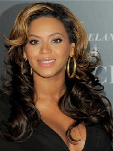 Mature Curly Beyonce 20Inches Indian Remy Hair Lace Wig
