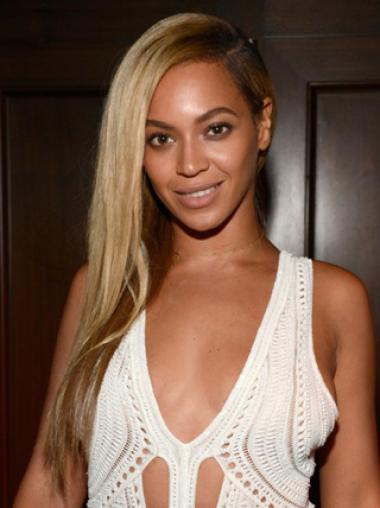 Classic Silky Straight Beyonce 22 Inches Remy Hair Lace Wig