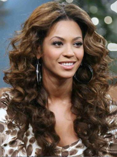 Beyonce Knowles Gypsy Style 100% Human Hair Long Curly Full Lace Wig about 20 Inches