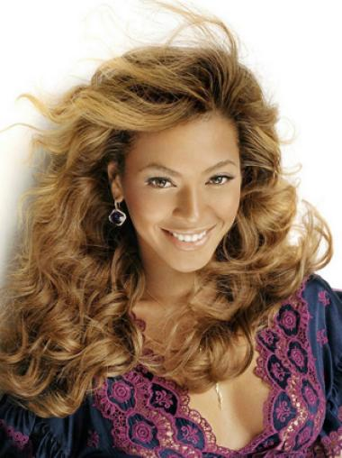 Beyonce Knowles Luscious Charming 100% Human Hair Long Wavy Lace Front Wig about 16 Inches