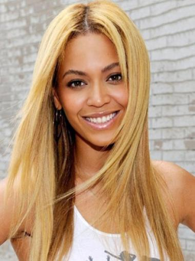 Beyonce Knowles Bright and Blonde Long Straight Lace Front Wig about 20 Inches