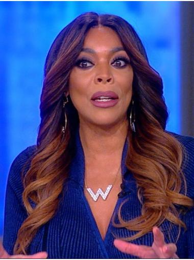 "Brown Capless Wavy 18"" Wendy Williams Wigs"