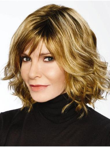 """Capless Blonde 10"""" Wavy Synthetic Jaclyn Smith Wigs"""