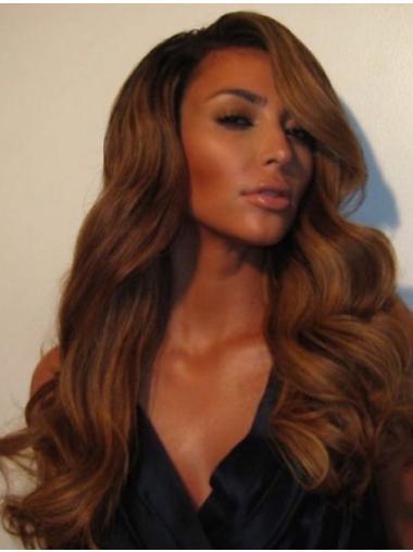 "18"" Synthetic Brown Wavy Kim Kardashian Wigs"