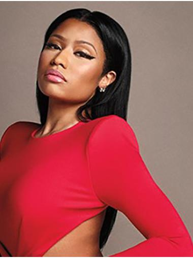 """Black 22"""" Straight Without Bangs Long Nicki Minaj Wigs"""