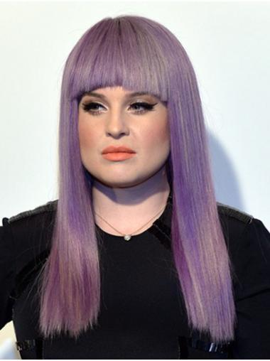 "Long Capless Synthetic Straight 18"" Kelly Osbourne Wigs"
