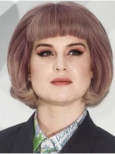 "Chin Length Capless Synthetic Wavy 12"" Kelly Osbourne Wigs"