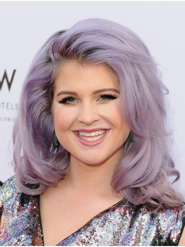 "Shoulder Length Lace Front Synthetic Wavy 16"" Kelly Osbourne Wigs"