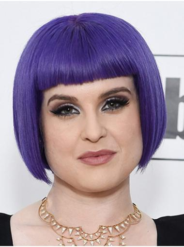 "Chin Length Capless Synthetic Straight 10"" Kelly Osbourne Wigs"