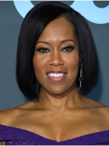 Bobs Straight Chin Length Black Lace Front Regina King Wigs