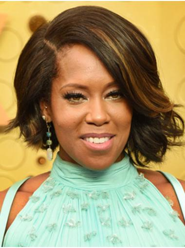 Bobs Wavy Chin Length Ombre/2 Tone Lace Front Regina King Wigs