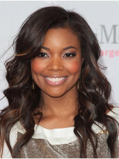 Without Bangs Curly Long Ombre/2 Tone Lace Front Gabrielle Union Wigs