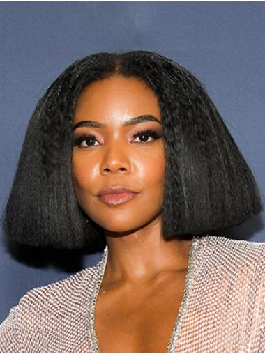 Bobs Yaki Chin Length Black Lace Front Gabrielle Union Wigs