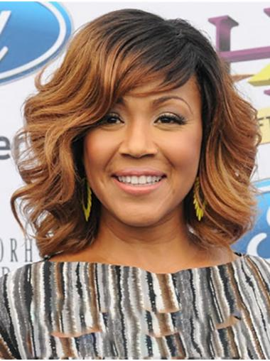Bobs Curly Shoulder Length Blonde Capless Erica Campbell Wigs