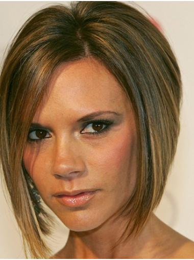 Bobs Straight Chin Length Ombre/2 Tone Lace Front Victoria Beckham Wigs
