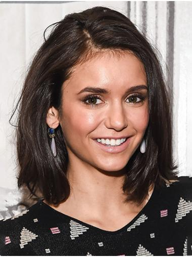 Bobs Straight Shoulder Length Brown Lace Front Nina Dobrev Wigs