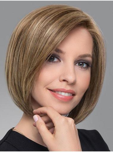Blonde Trendy Straight Chin Length Synthetic Bob Wigs