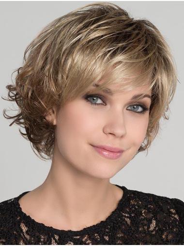 Blonde Ideal Wavy Short Synthetic Bob Wigs