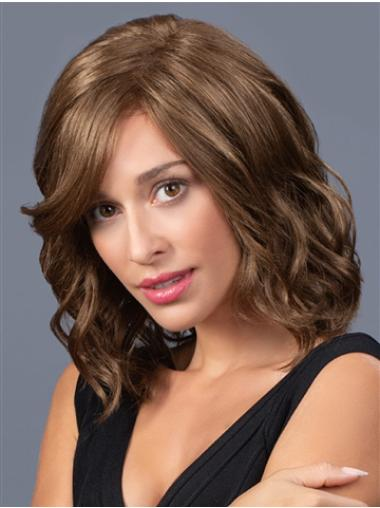"Layered 14"" Shoulder Length Wavy Suitable Medium Wigs"