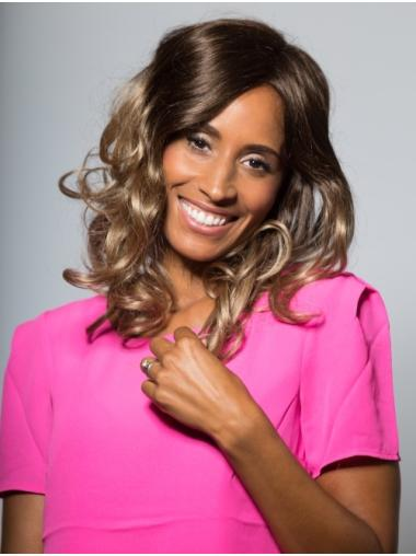 Hairstyles Shoulder Length Wavy Blonde Without Bangs African American Wigs