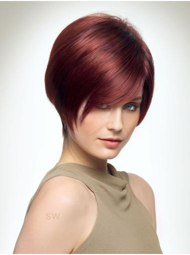 """Red 8"""" Boycuts Style Capless Synthetic Wigs"""