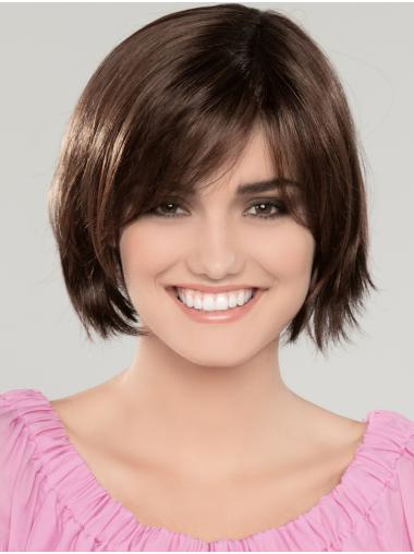 "10"" Chin Length Brown Straight Cheapest Bob Wigs"