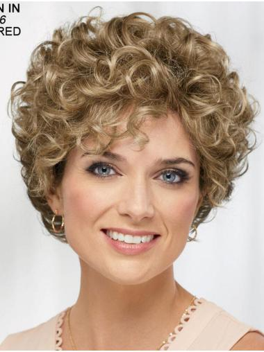"""Curly Blonde Short 8"""" Soft Classic Wigs"""