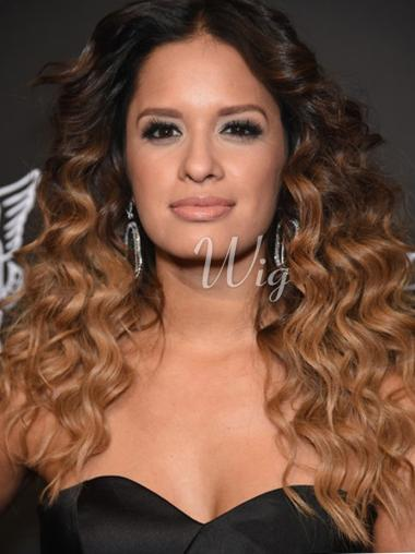 18'' Long Curly Full Lace Wigs Ombre Wigs
