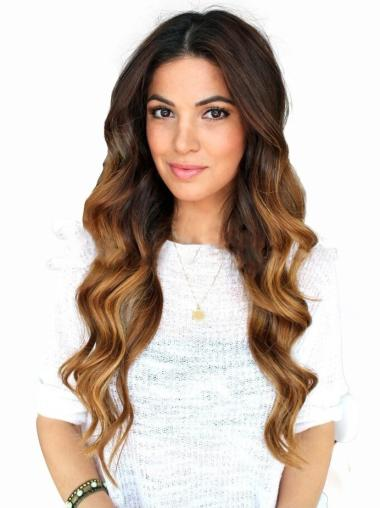 "20"" Long Wavy Full Lace Wigs Ombre/Two Tone Wigs"