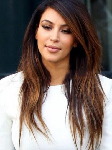 """18"""" Long Straight Ombre Two Tone Full Lace Wigs"""