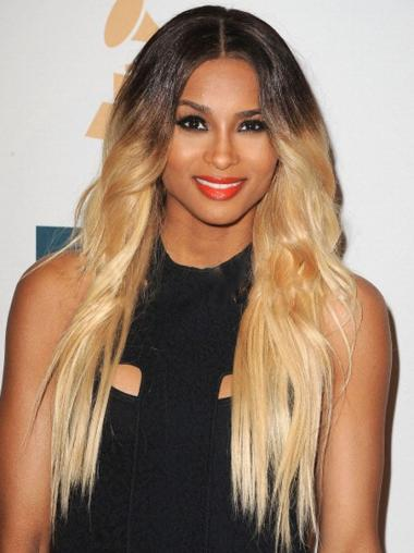 "Long Wavy Full Lace Wigs 22"" Ombre Color"