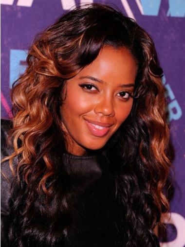"18"" Long Wavy Full Lace Wigs Two Tone African American Wigs"